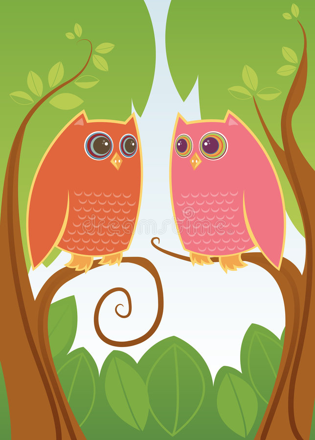 Download Owl Always Love You stock illustration. Image of female - 874611