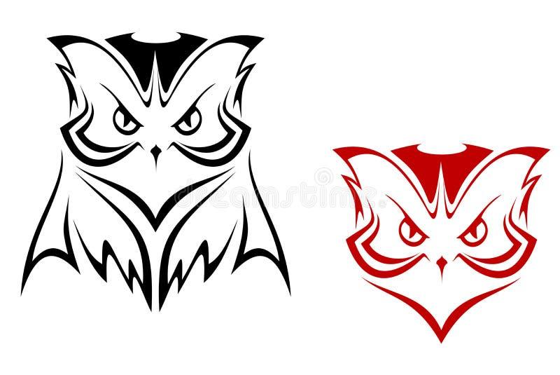 Owl mascot vector illustration