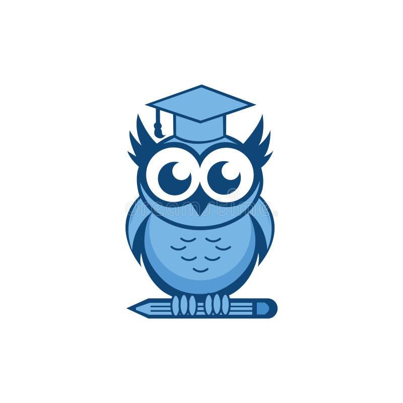 Owl Mascot Education stock afbeeldingen