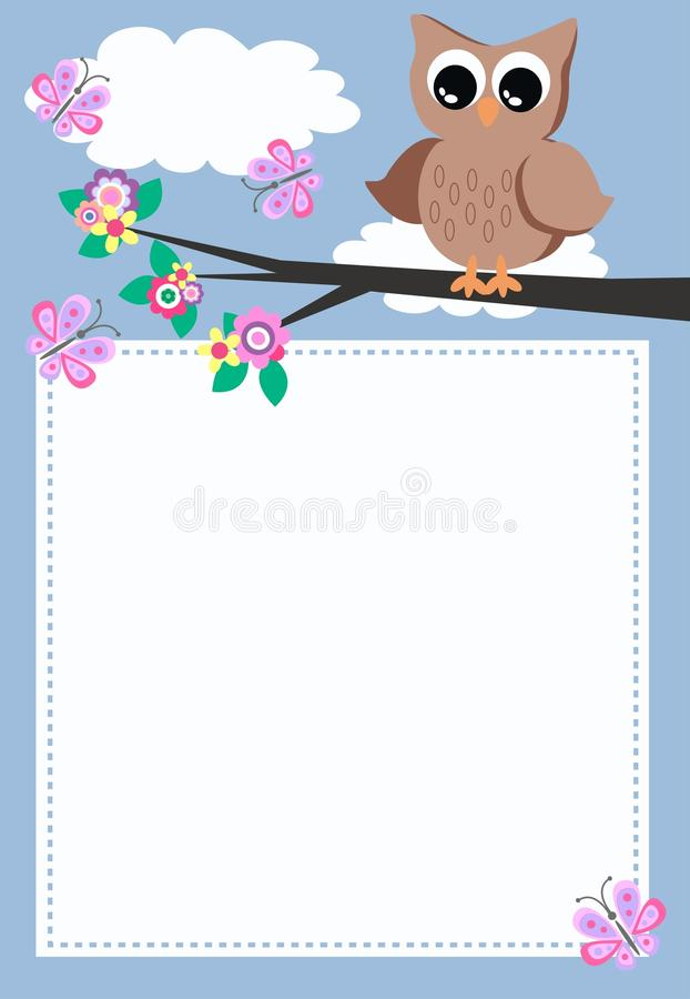 A owl with a message royalty free illustration