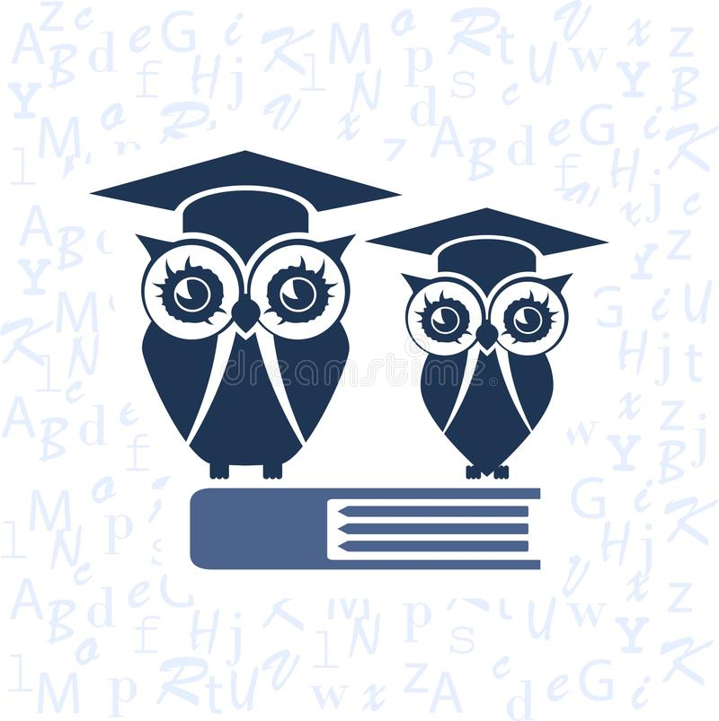 Owl with Mortarboard royalty free stock photos