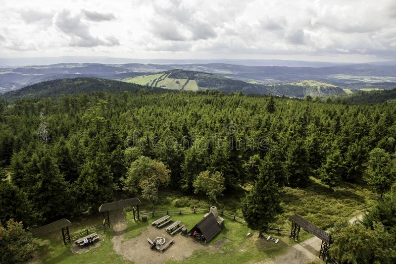 Owl Mountains The Witcher in Polonia immagini stock
