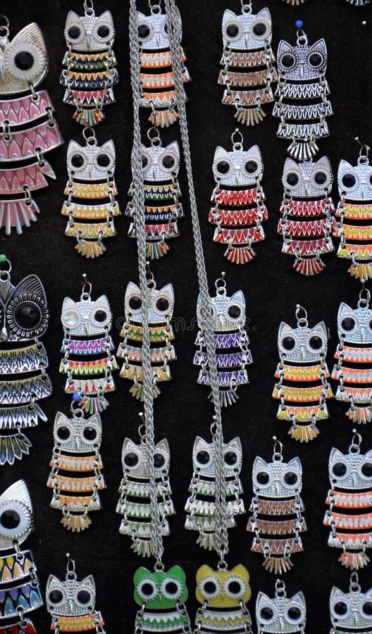 Owl Necklaces royalty-vrije stock afbeeldingen