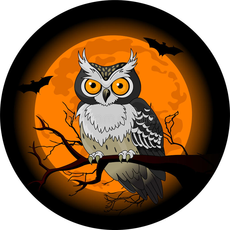 Download Owl night stock vector. Illustration of full, painting - 10936746