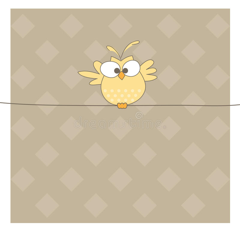 Free Owl On The Rope. Vector Illustration Royalty Free Stock Images - 16319359