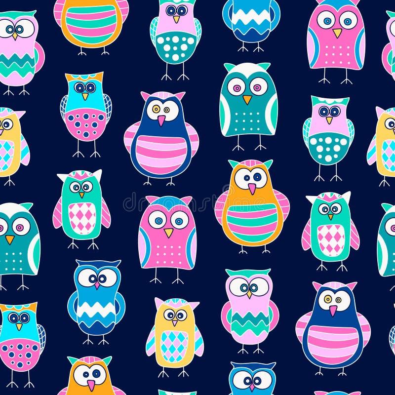 Owl pattern seamless stock photography