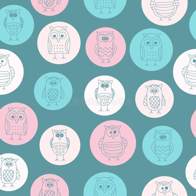 Owl pattern seamless stock photo