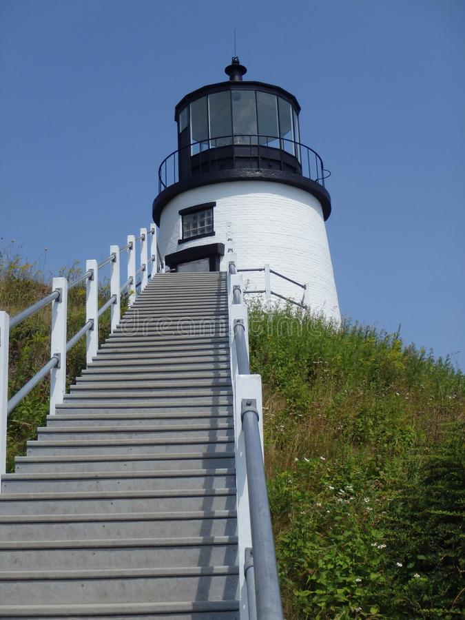 Owl' ; phare de tête de s, Maine, Etats-Unis photos stock