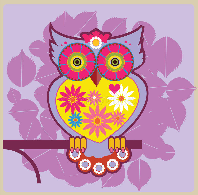 Download Owl pink queen stock vector. Illustration of nature, paper - 26458925