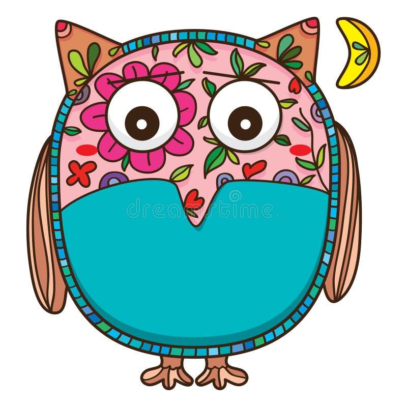 Owl pity royalty free illustration