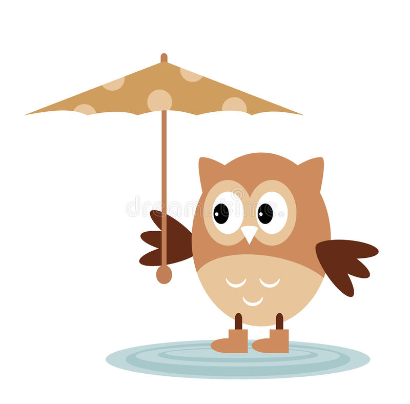 Owl From The Rain libre illustration