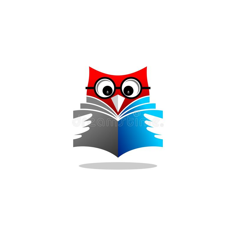 owl reading book vector logo stock vector illustration of rh dreamstime com Owl Reading a Book owl learning login