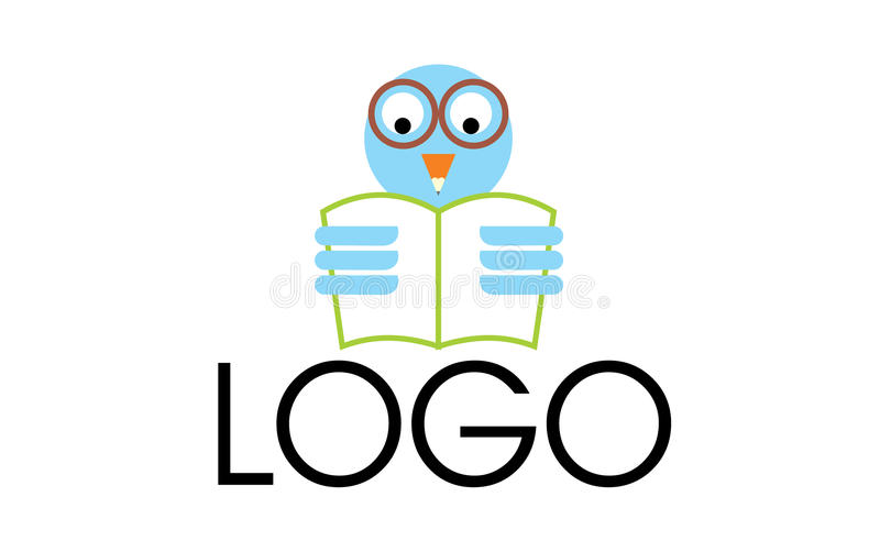 owl reading logo stock vector illustration of glasses 85255447 rh dreamstime com Owl Reading a Book owl reading logo