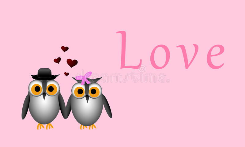 Owl Romance imagem de stock