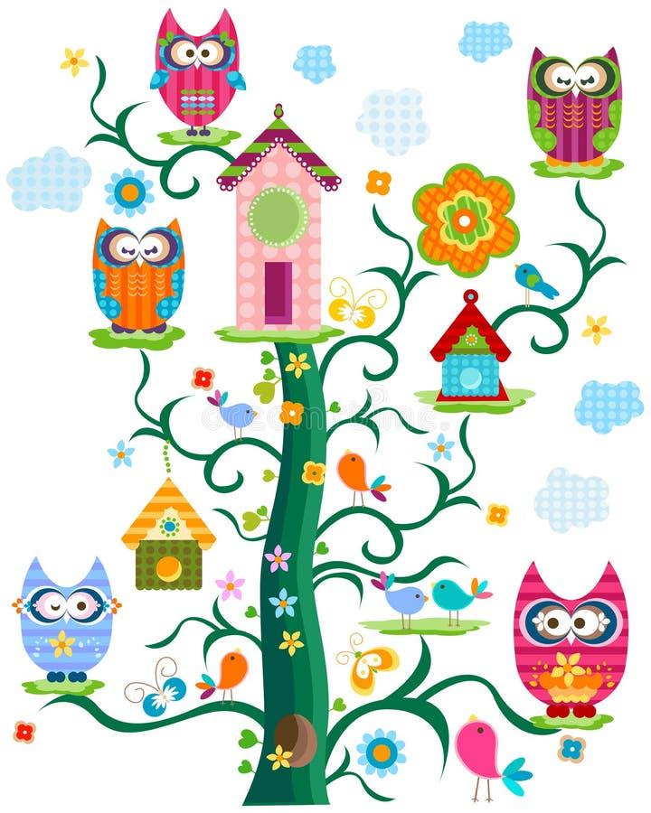 Free Owl`s Tree Royalty Free Stock Photo - 29236745