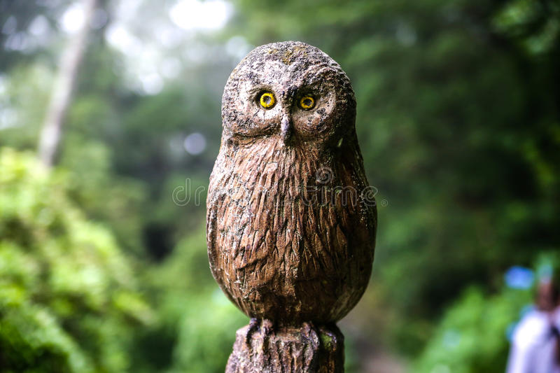 Owl Sculpture fotografia stock