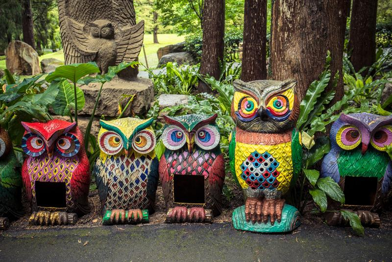 Owl Sculpture imagens de stock royalty free