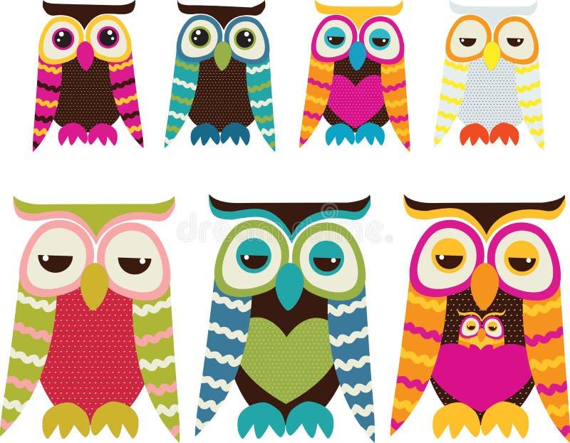 Owl Set Stock Photo