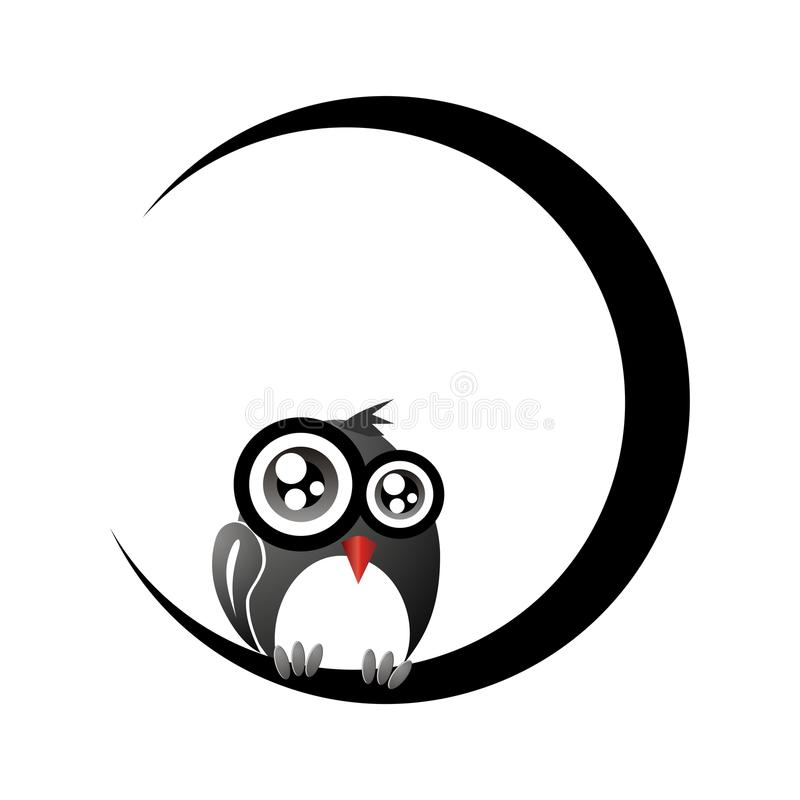 Download Owl silhouette stock illustration. Image of bird, crescent - 21010296