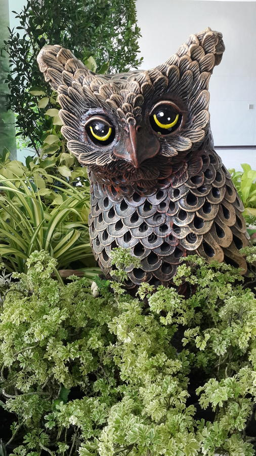 Owl Statue In The Garden Stock Photo Image Of Statue 71943024