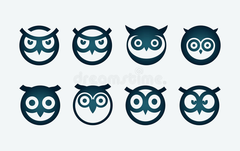 Owl Symbol Set illustration libre de droits