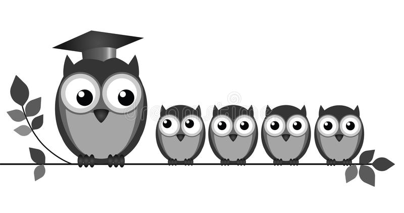 Owl Teacher lizenzfreie abbildung
