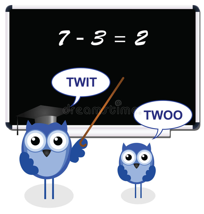 Download Owl teacher with pupil stock vector. Image of children - 19841242