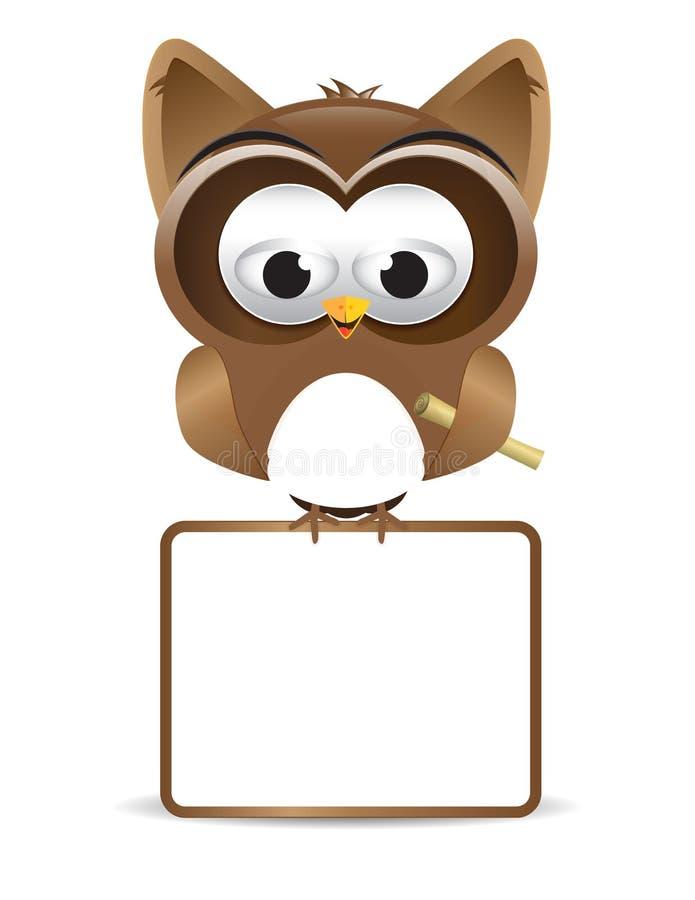 Owl Text Box Cartoon Paper Hand Decorative Elements Happy Bird