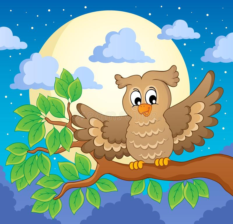 Download Owl theme image 1 stock vector. Illustration of evening - 29458188