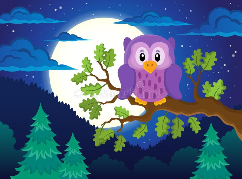 Owl topic image 1. Eps10 vector illustration royalty free illustration