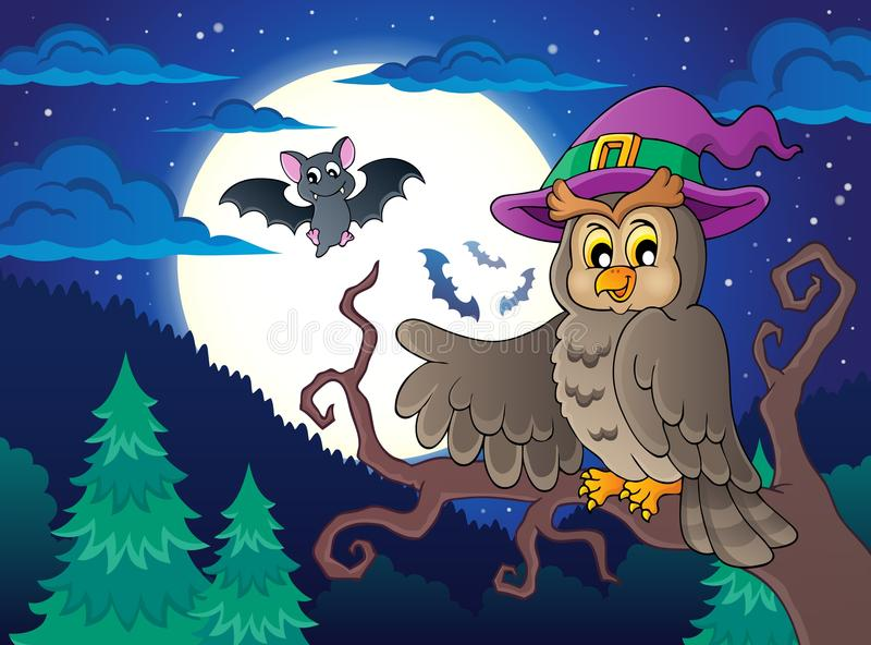 Owl topic image 2. Eps10 vector illustration royalty free illustration