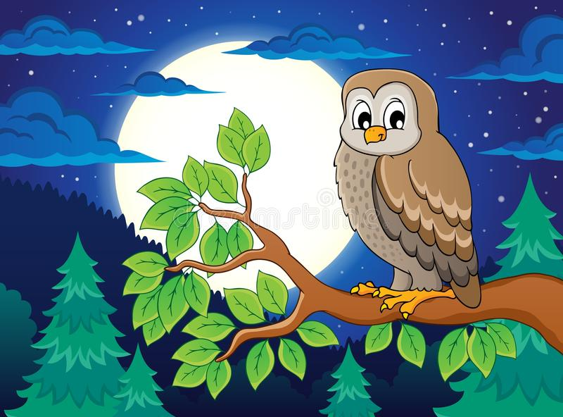 Owl topic image 4. Eps10 vector illustration vector illustration
