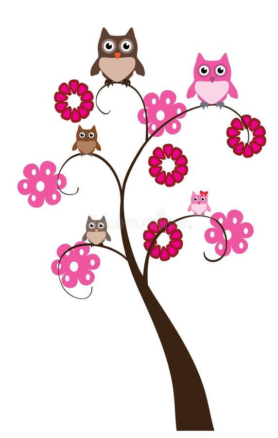 Owl Tree vector illustratie