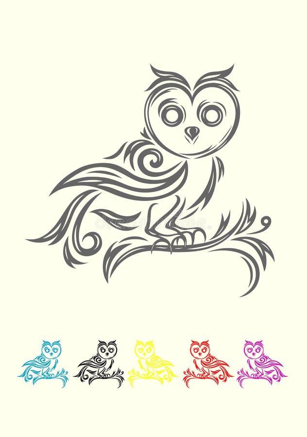 Owl tribal stock vector. Illustration of ornate, garden ...