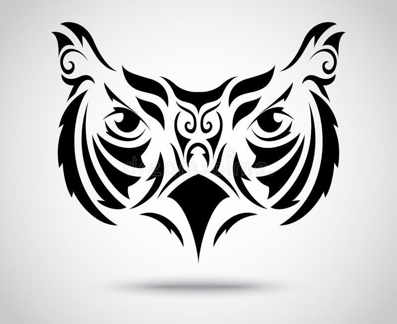 owl tribal muster vektor abbildung illustration von karikatur 42382361