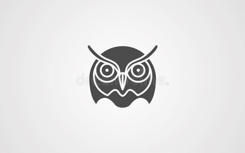 Owl vector icon sign symbol royalty free illustration