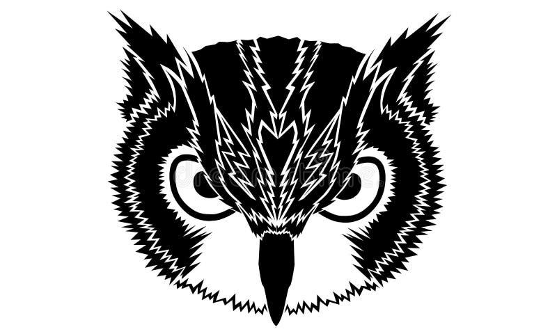 Owl Vetora preto ilustração do vetor