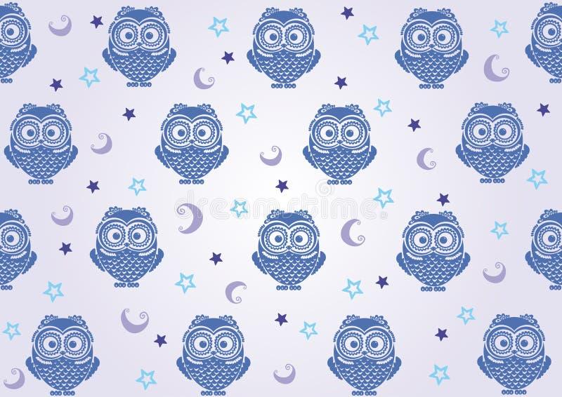 Owl Wallpaper Stock Photography