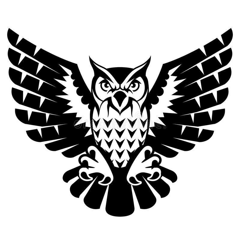 Free Owl With Open Wings And Claws Royalty Free Stock Image - 49289126
