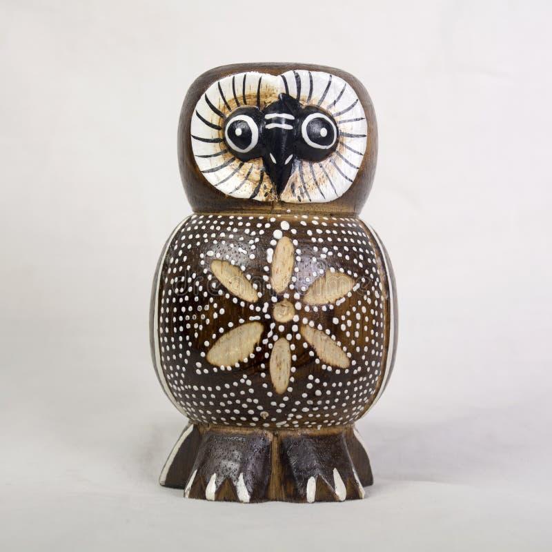 Owl Wood Carving stockfotos