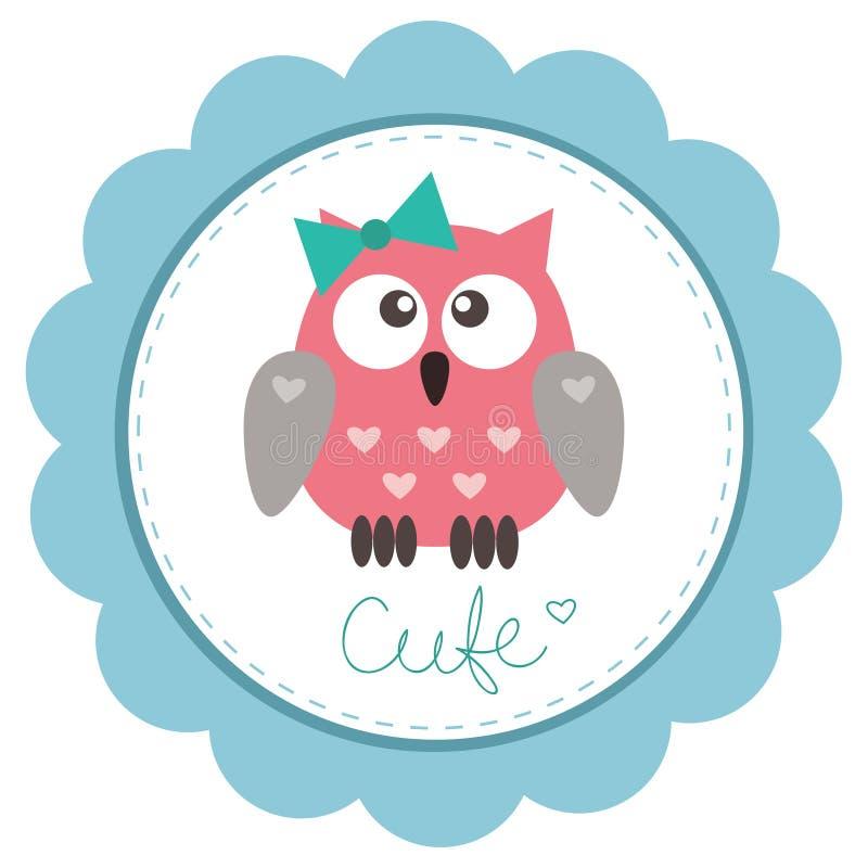 Owlet mignon de chéri-fille illustration libre de droits
