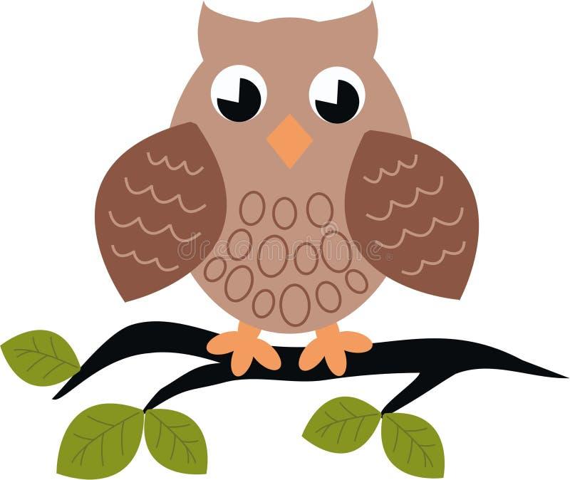 owlmodell vektor illustrationer
