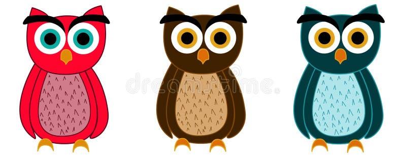 owls stock illustrationer