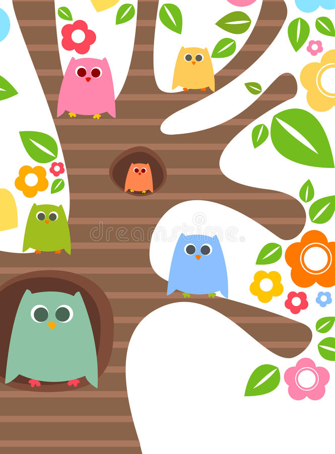 Download Owls stock vector. Illustration of background, colorful - 17468141