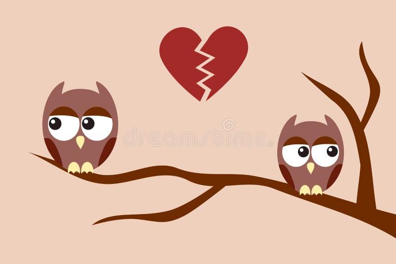 Owls after an argument
