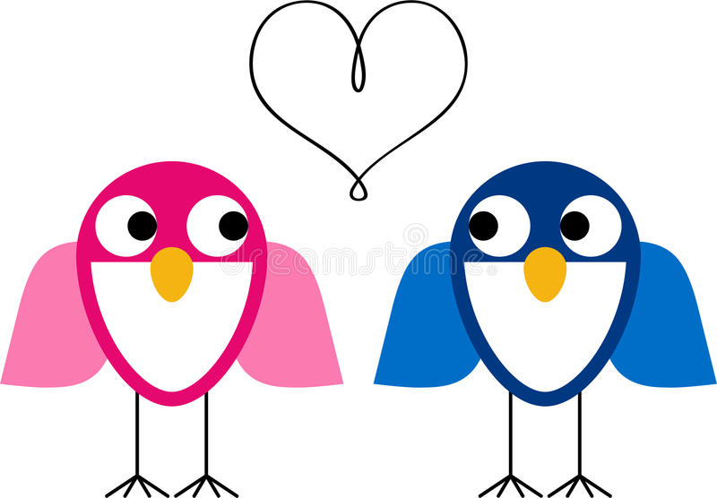 Download Owls in love stock vector. Image of tree, bird, want - 22748289