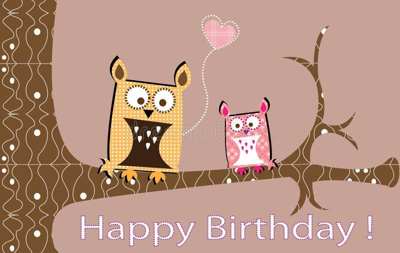 Download Owls lovely card stock illustration. Image of illustration - 16611789