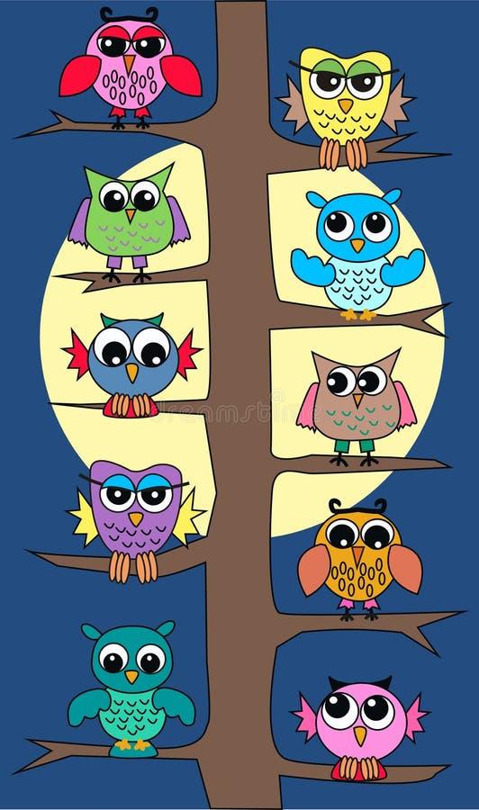 Download Owls in moonlight stock vector. Illustration of design - 18479676