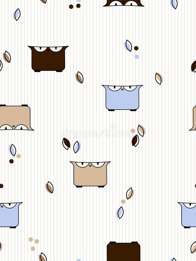 Owls pattern royalty free illustration