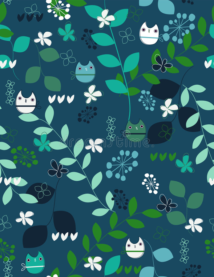 Owls pattern stock illustration
